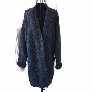 Rag & Bone Heather Merino Wool Sweater Coat
